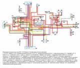 схема электрооборудования мотоцикла ИЖ-7.107 Планета-5 (электронная система зажигания)