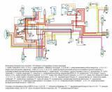 схема электрооборудования мотоцикла ИЖ-7.107 Планета-5 (батарейная система зажигания)