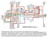 схема электрооборудования мотоцикла ИЖ-6.113 Юпитер-5 (батарейная система зажигания и жидкостная система охлаждения)