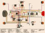 схема электрооборудования мотоцикла Урал-Соло ИМЗ-8.1230 (без электро стартера)