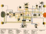 схема электрооборудования мотоцикла Урал-Волк ИМЗ-8.1237 (с электро стартером)