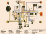 схема электрооборудования мотоцикла Урал-Соло Классик ИМЗ-8.1233 (с электро стартером)