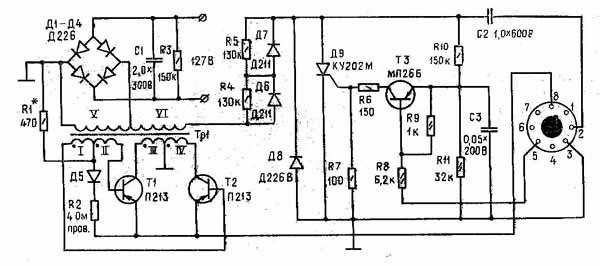 Автоматическая система зажигания Описание принципиальной схемы электронного зажигания для мотоциклов при испытаниях...
